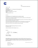 点击查看领航 康明斯 CES 20077认证